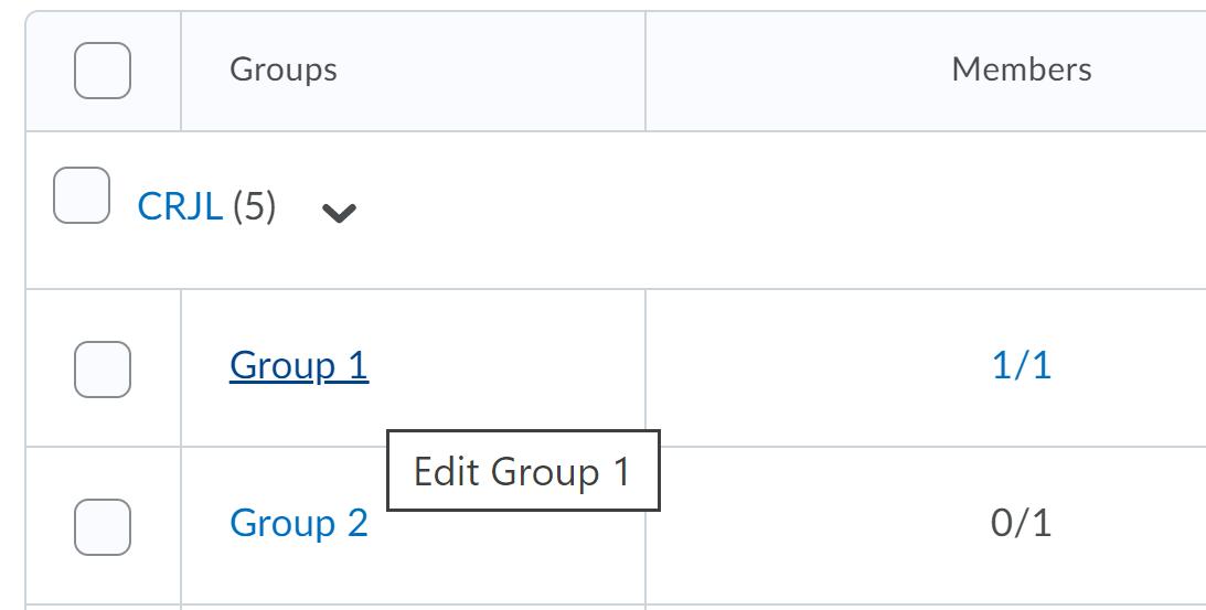 Choose group to edit name